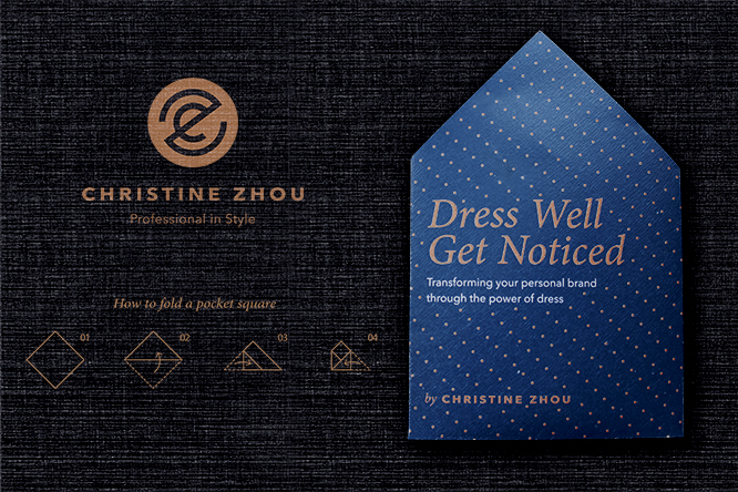 A pocket square leaflet