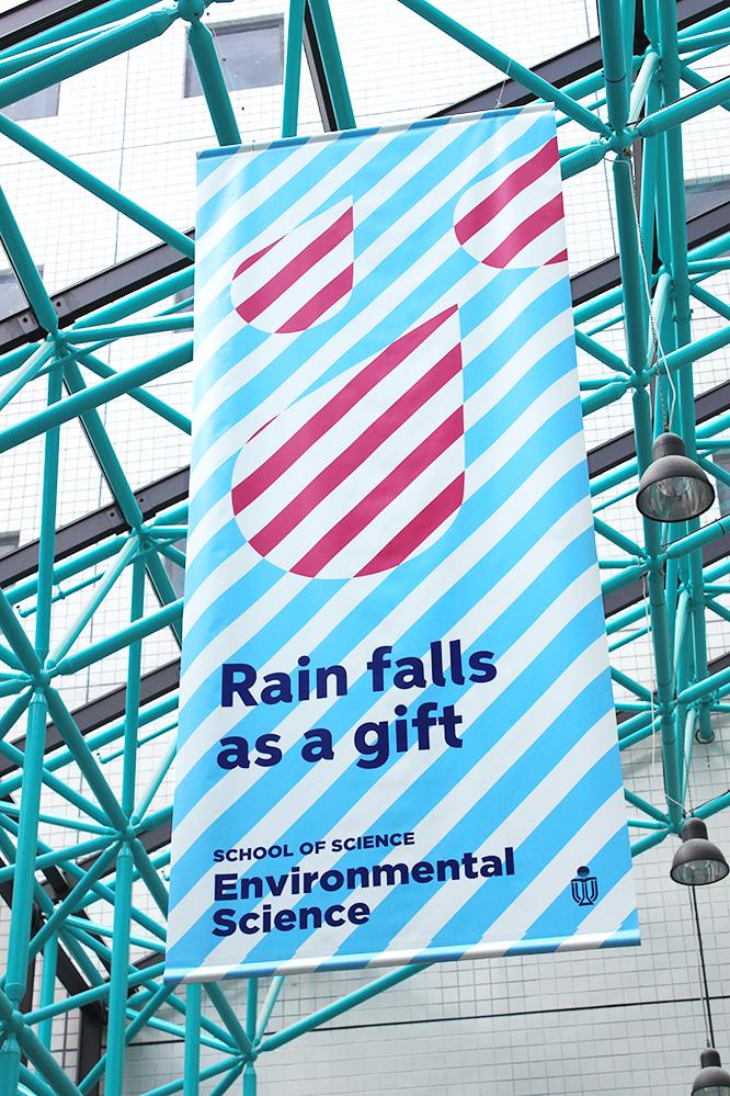 Rain falls as a gift